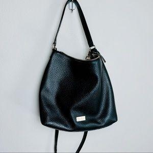 Kate Spade Pebble Black Messenger Handbag Purse